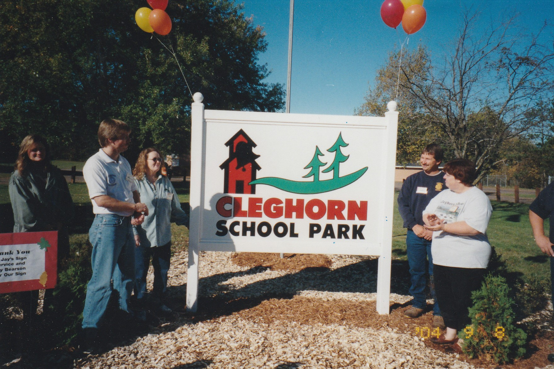 Cleghorn School Park Dedication